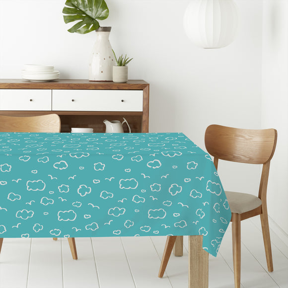 Trendy Cloudy Sky Rectangle Tablecloths