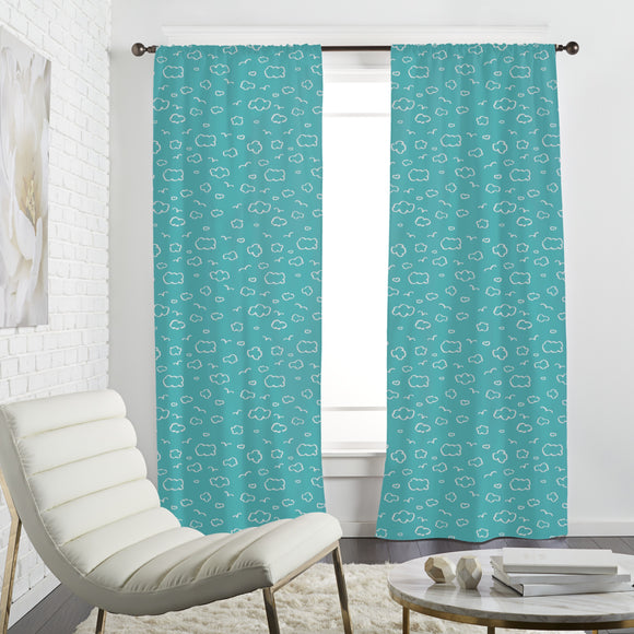 Trendy Cloudy Sky Curtains