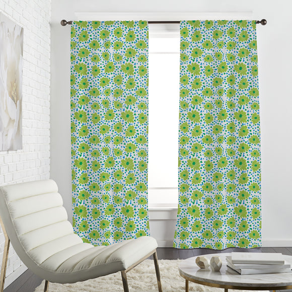 Flowers Spreading Love Curtains