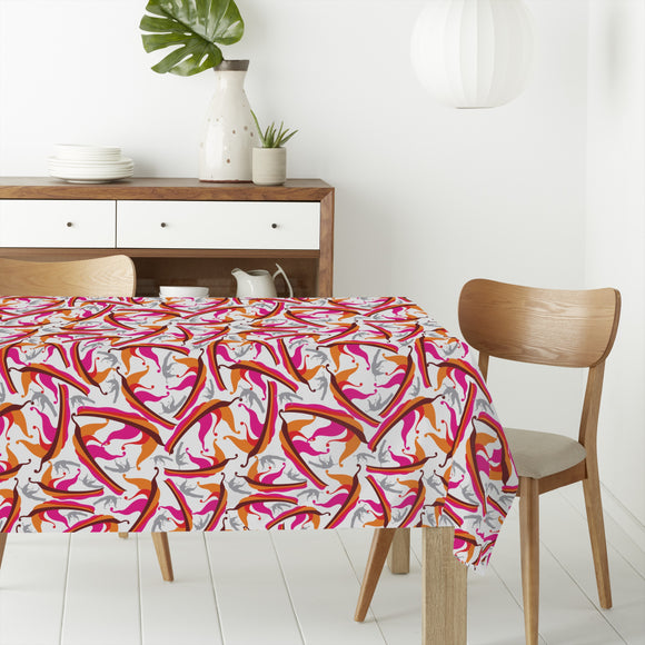 Abstract Falling Leaves Rectangle Tablecloths
