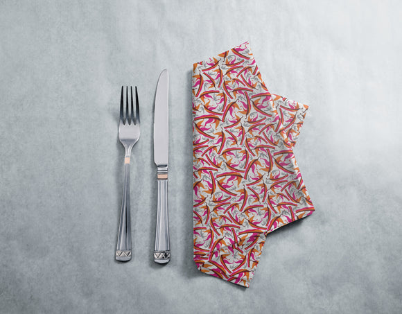 Abstract Falling Leaves Napkins