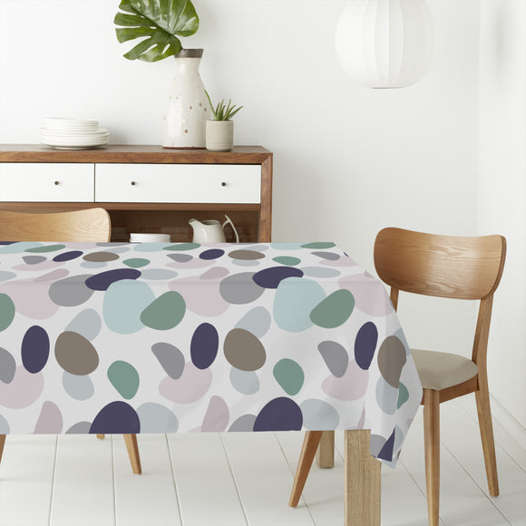 River Stones Rectangle Tablecloths