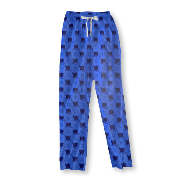 Big Cartoon Whales Pajama Pants