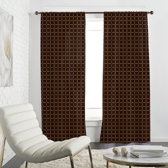 Drop Cross Texture Curtains