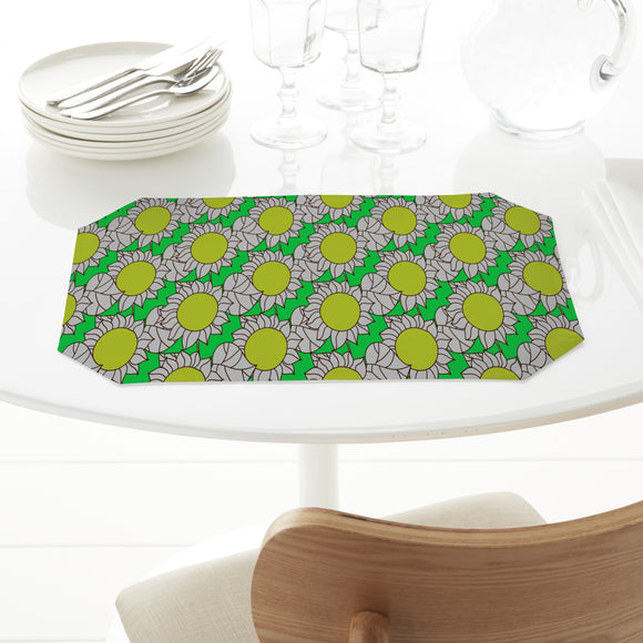 Abstract Sunflowers And Leaves Placemats