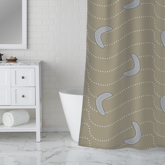 Desert Boomerang Shower Curtain