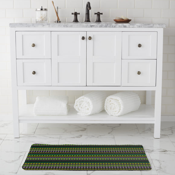 Not Just horizontal Stripes Bathroom Rug