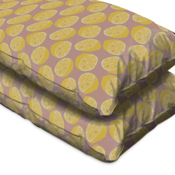 Healthy Lemon Halves Pillow Case