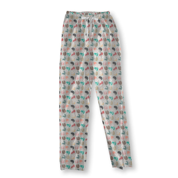 Dill Flowers on Polka Dots Pajama Pants