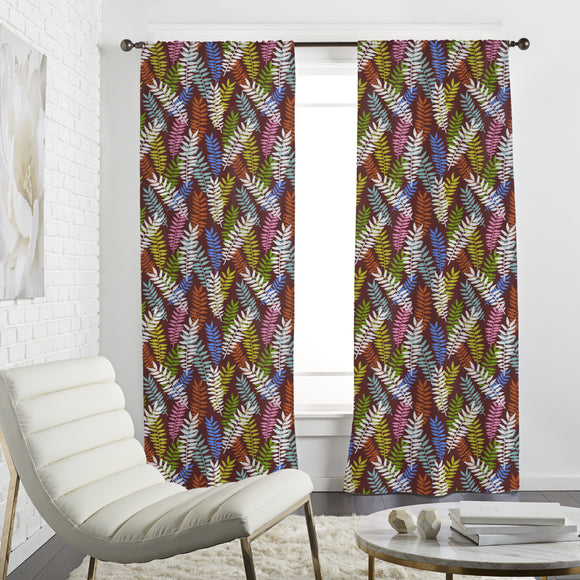Fern Ornaments Curtains