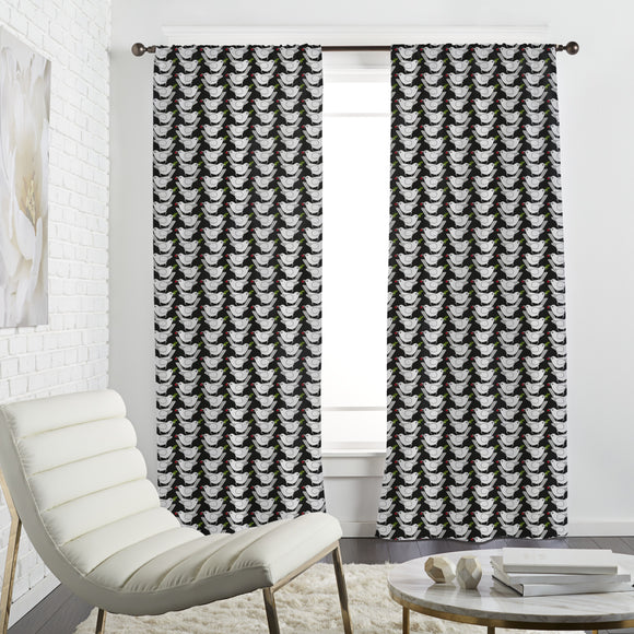 Bustling Birds Curtains