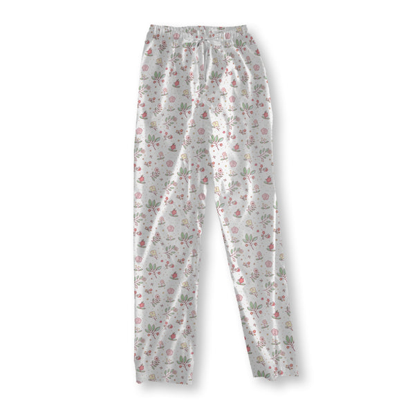 Delicate Cottage Flowers Pajama Pants