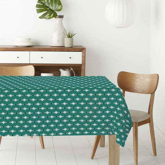 Pixelated Stripes Rectangle Tablecloths