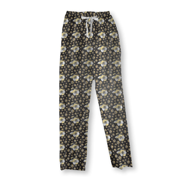 Pansy Bloom Pajama Pants