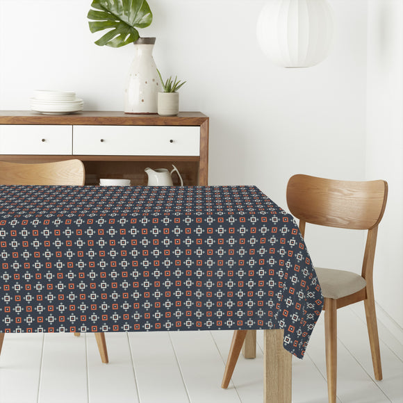 Pixelated Grid Rectangle Tablecloths