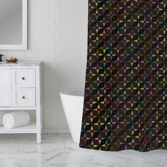 Nighttime Abstract Stars Shower Curtain