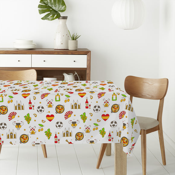 Welcome to Spain Rectangle Tablecloths