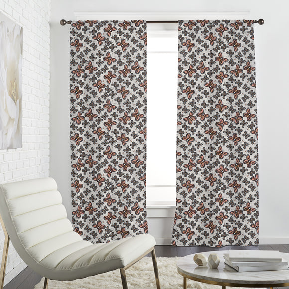 Bees And Butterflies Curtains