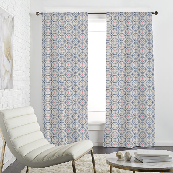 Symmetrical floral Ornaments Curtains