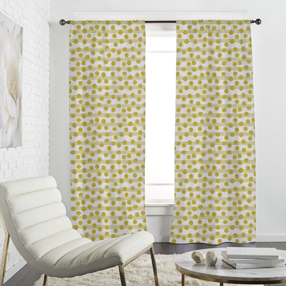 Sparkling Dots And Stripes Curtains