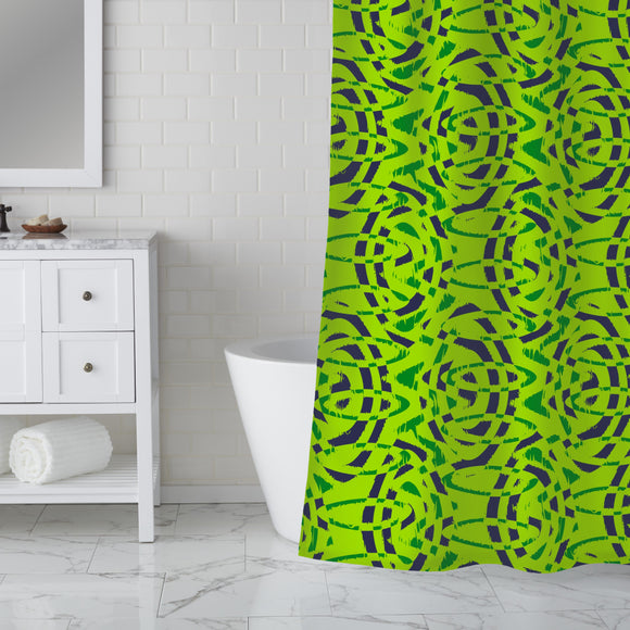 Brushed Ellipses Shower Curtain