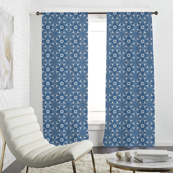Flowered Tile Curtains