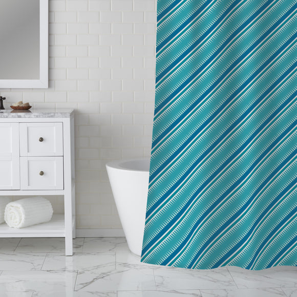 Stripes And Spines Shower Curtain