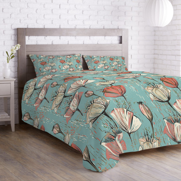 Vintage Flower World Duvet