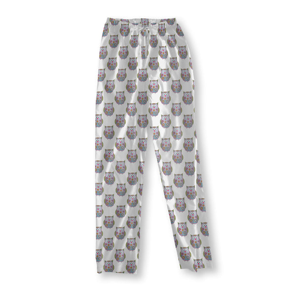 Flower-Owls Pajama Pants