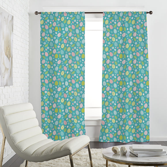 Easter Eggs In Spring Curtains