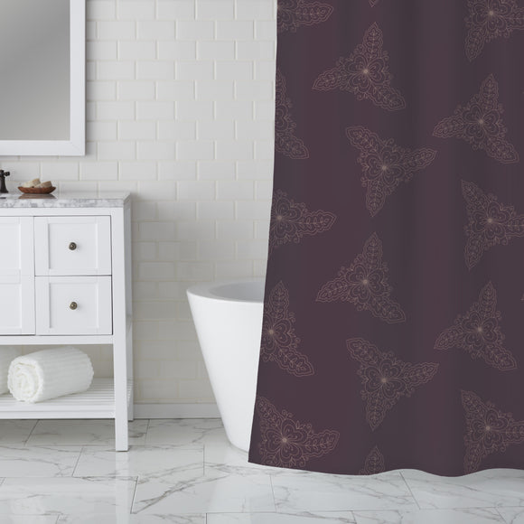 Indian Chocolate Shower Curtain