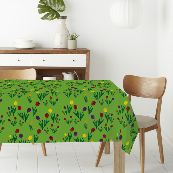 Tulips Meadow Rectangle Tablecloths