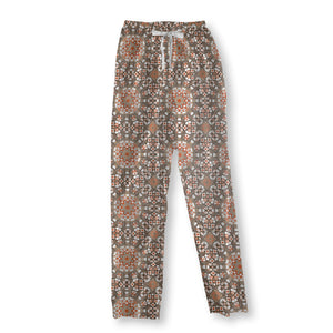 With Floral Details Pajama Pants