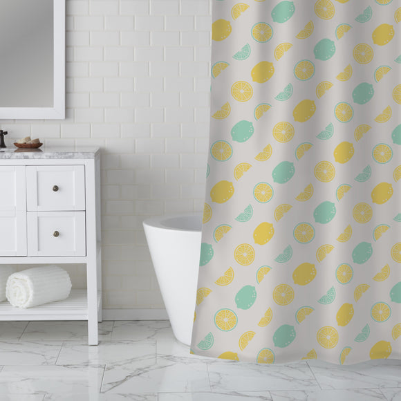 Sour makes you happy Shower Curtain
