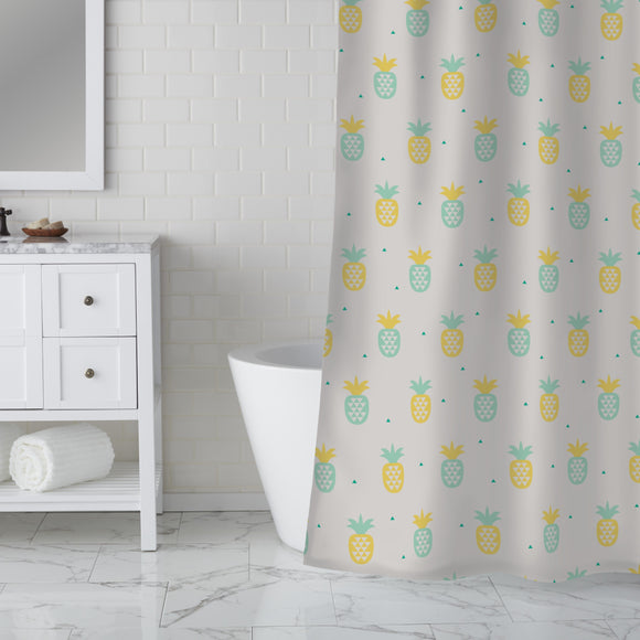 Pineapple meets triangles Shower Curtain