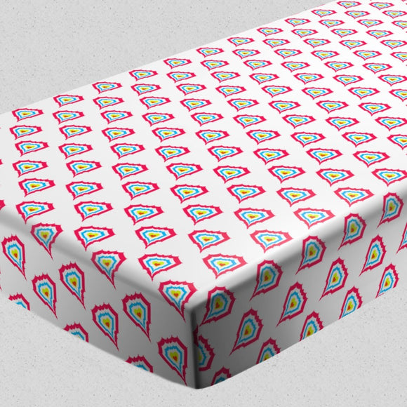 Hearts On Fire Fitted Sheets