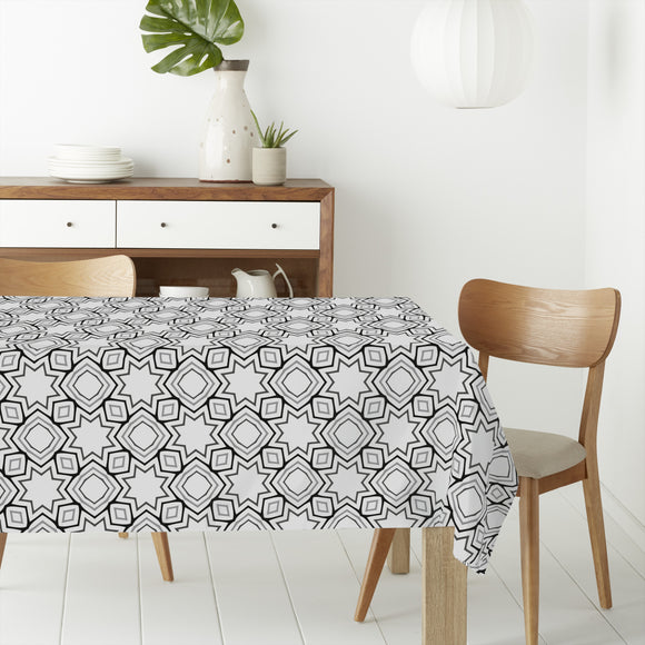 Shapes In Repeat Rectangle Tablecloths