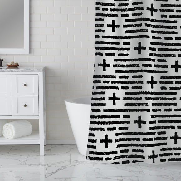 Charcoal Plus Charcoal Shower Curtain