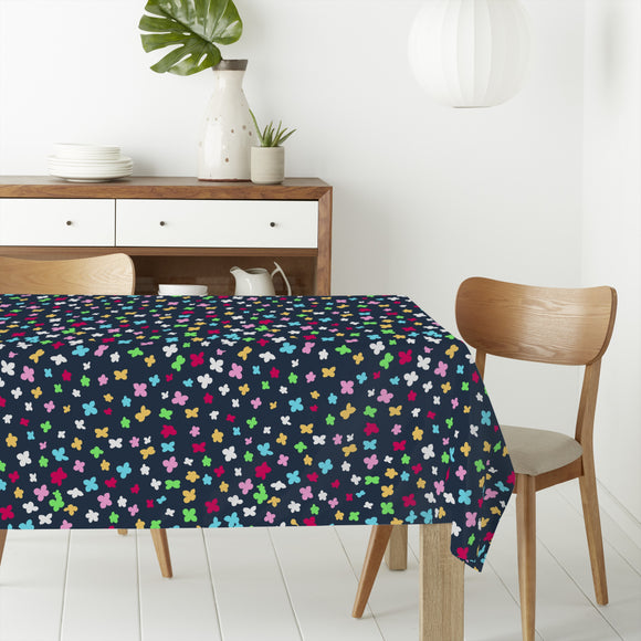 Confetti Flowers Rectangle Tablecloths