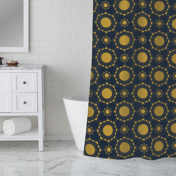 Art Deco Suns Shower Curtain