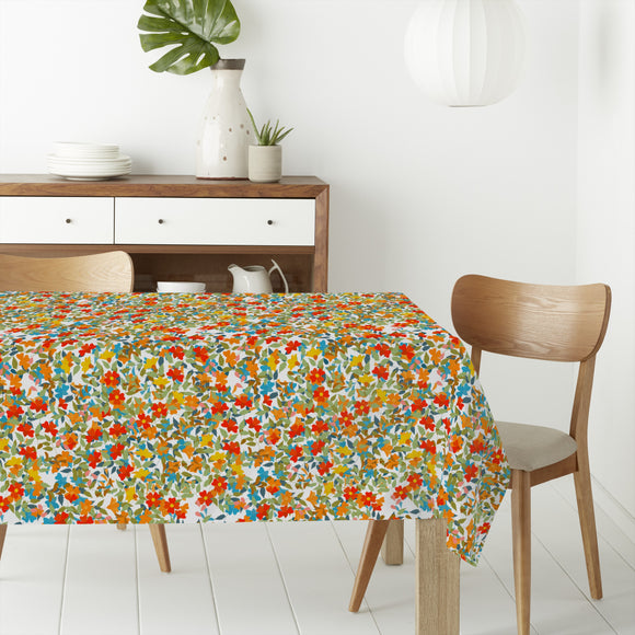Happy Flowering Rectangle Tablecloths