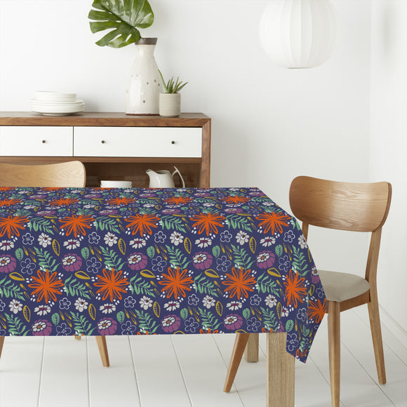 Backyard Flowers Rectangle Tablecloths