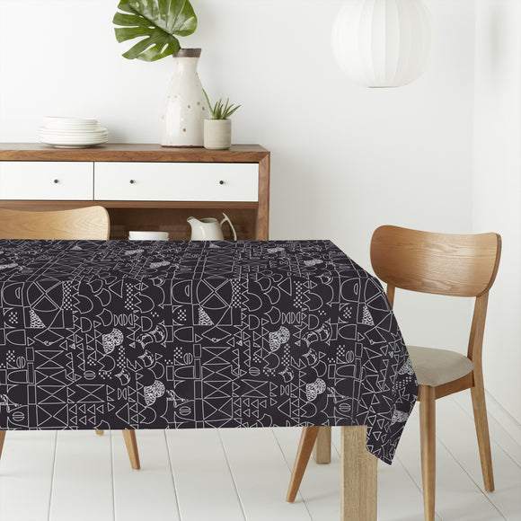 Simple Contures Rectangle Tablecloths