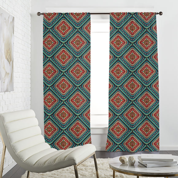 Aztec Skulls Curtains