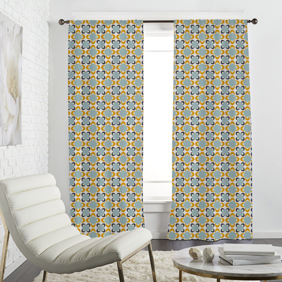 Abstract Comet Flowers  Curtains