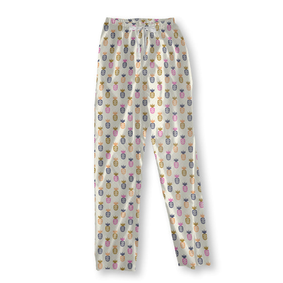 Pineapple And Triangles Pajama Pants