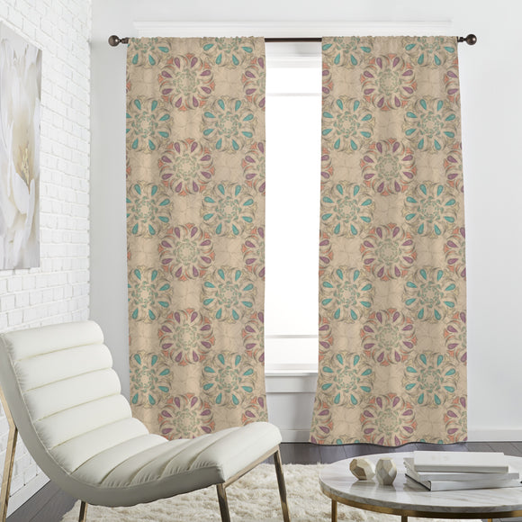 Filigree Magic Flower Curtains