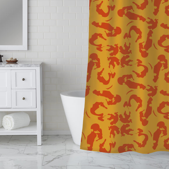 Intuitive Brush Strokes Shower Curtain