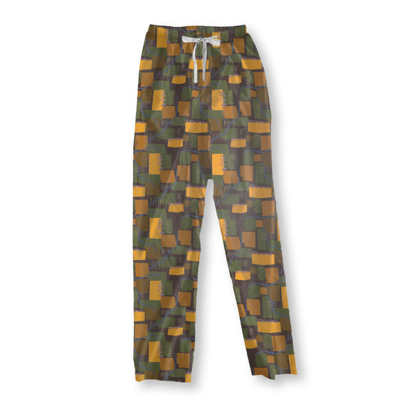 Abstract Rivers and Fields Pajama Pants