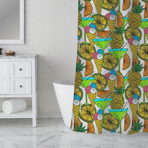 Cocktails And Ice Cream Shower Curtain